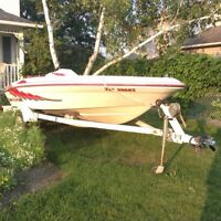 1993 sea rayder jet boat with 90 hp merc