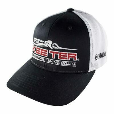 Hat  Red//Black Flat Billed New Genuine Skeeter Boats Cotton Stretch Fit