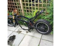2006 MOTORBIKE FRAME WITH V5 ABD REG IDEAL FOR PROJECT