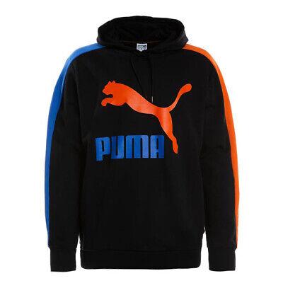 Puma Classics T7Logo Mens Hoodie Pullover  Sweatshirt Black 578418 A86A