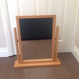 Beech dressing table mirror