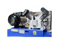 New Air compressor 100 liters 8bar 350l/min 2800rpm 230V 3.0HP V type engine UK delivery