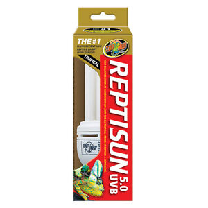 ZOOMED REPTISUN TROPICAL 5.0 UVA UVB 26W BULB]new]