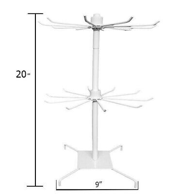 Wholesale 2two Spinning Display Rack 20 Inches 2 Levels.