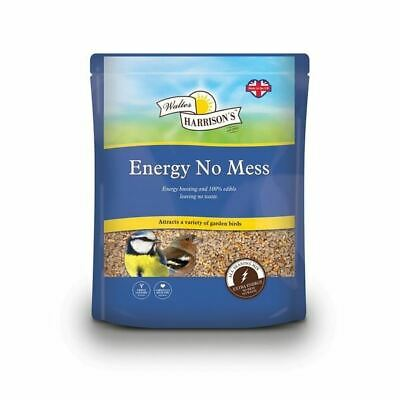 Walter Harrisons Energy No Mess Seed Sunflower Heart Mix Wild Bird Food 4kg Bag