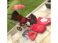 Bugaboo Frog pushchair, pram, stroller with extras