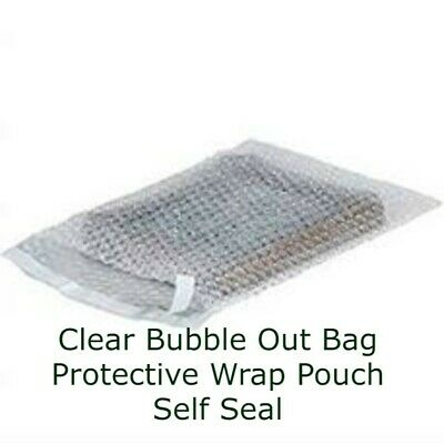 100 - 4x5.5 Bubble Out Pouches Bags Wrap Cushioning Self Seal Clear 4 X 5.5