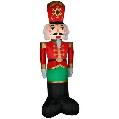8ft Tall Giant-Sized LED Luxe Nutcracker Christmas Inflatable