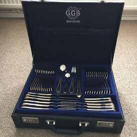 Brand new 134 piece GGS solingen bestecke 18/10 cutlery set