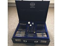 Brand new 134 piece GGS solingen bestecke 18/10 cutlery set