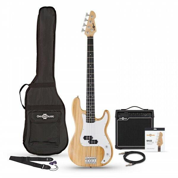 LA Bass Guitar + 15W Amp Pack Natural