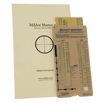 Mildot Master Analog Calculator W  Instructions Manual