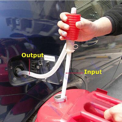 Car Manual Hand Gas Oil Liquid Syphon Transfer Pump Siphon Pump Hose Portable