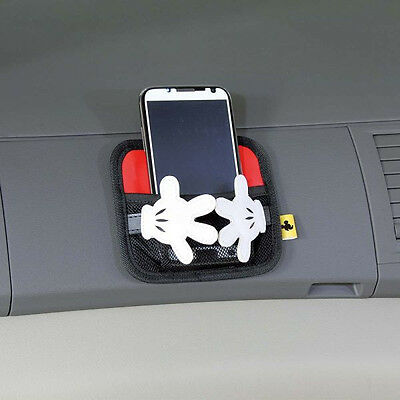 Mickey Mouse Accessories (New Disney Mickey Mouse Storage Bag Mobile Phone Holder Pocket Car)