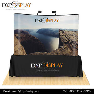 Curved table top Fabric trade show booth
