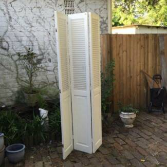 Shabby chic country White upcycled shutter doors room divider Leichhardt Leichhardt Area Preview