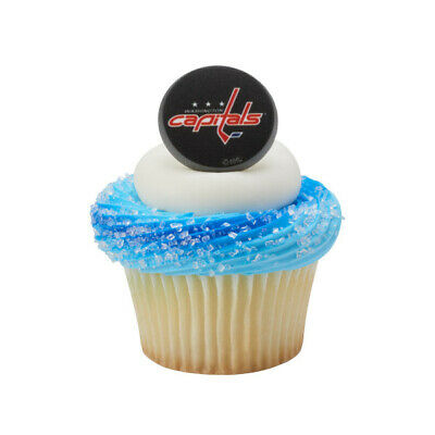 NHL Cake Toppers Washington Capitals Cupcake Rings One Dozen Hockey - Hockey Cake Toppers