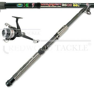 Lineaeffe 12ft Telescopic Carp/Coarse/Sea Fishing Rod & Lineaeffe Reel & Line