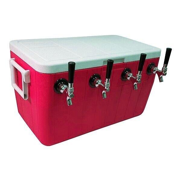"""NY Brew Supply Jockey Box Cooler - 4 Faucet, 5/16"""" x 50"""