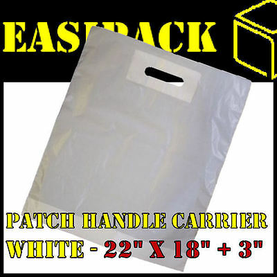 1000 Strong WHITE 'PATCH HANDLE' 22
