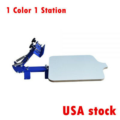 1 Station Single Color Silk Screen Printing Machine For T-shirt Diy T-shirt-us
