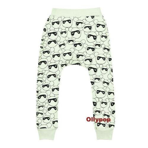 New Beau Loves Pants 8-9 yr Lime masked bears print drop crotch Davenport unisex