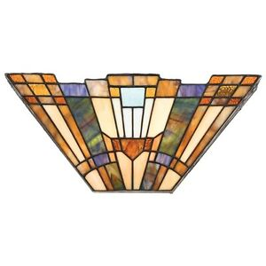 Quoizel Inglenook Tiffany two light wall sconce - new