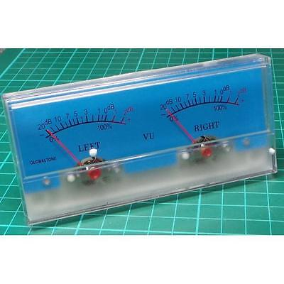 Analogue Dual Vu Meter 116x51mm 500ua