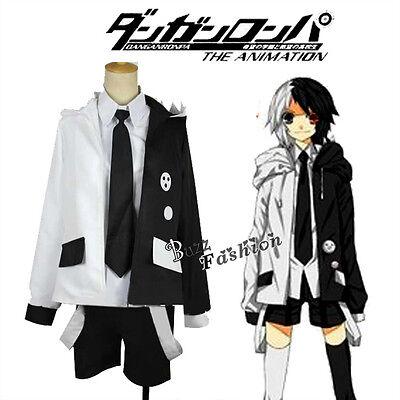 Manga Danganronpa:Trigger Happy Havoc Monokuma Cosplay Schwarzweiß Kostüm Anzug