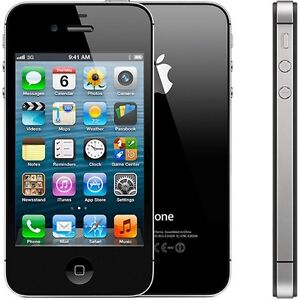 Black iPhone 4s 8GB locked to Bell