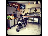 Looking for a garage to store motorbike