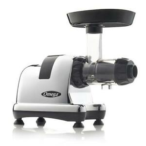 Omega Nutrition Center Masticating Juicer Model 8007 $349.95 Silver & 8008 Chrome $399.95