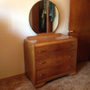 Dresser with mirror and Tall boy dresser