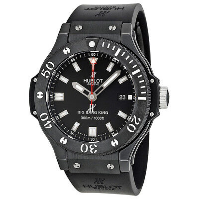 Hublot Big Bang Black Dial Black Rubber Strap Mens Watch 312.CM.1120.RX