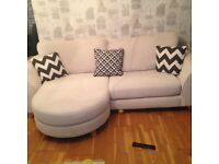 8 Month old 4 seater sofa and large Cuddle Sofa