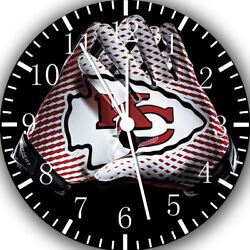 Kansas City Chiefs Frameless Borderless Wall Clock Nice For Gifts or Decor F121