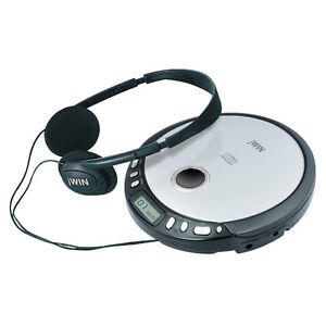 JWIN-CD-CDR-PORTABLE-PLAYER-HEADPHONES-SILVER-BLACK-PROGRAMMABLE-NEW-0-US-SHIP