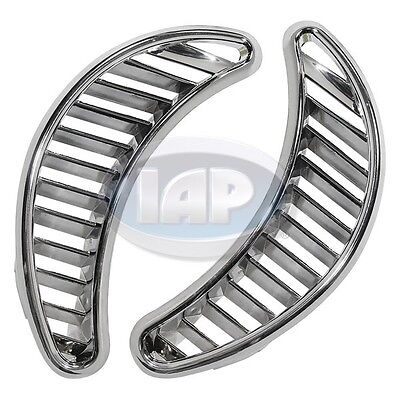 Chrome Plated Side Vents - VW Bug Beetle CHROME Quarter Grill Vents Trim Plate 71 Up PAIR Side Air AC819750