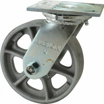 Albion 6 Inch Diameter X 1-12 Inch Wide Swivel Caster With Top Plate Mount ...
