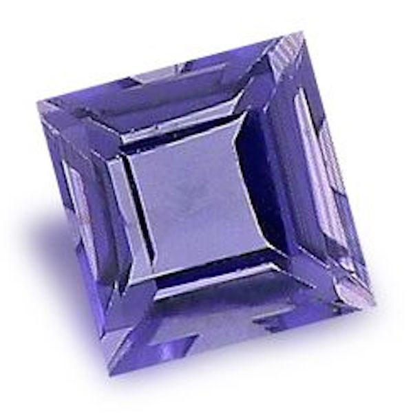 Natural Genuine Iolite Square Step-Cut Faceted AAA Loose Stones(2x2mm - 7x7mm)