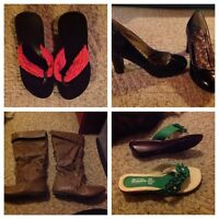 4 pairs of shoes (size 6). $5 for all.