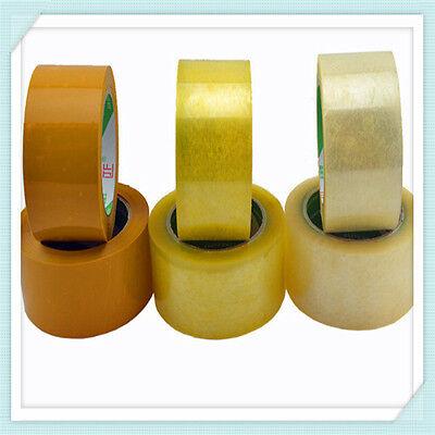 Lot 12 Packing Carton Sealing Packaging Tape 2 110 Yds 330ft. Tan Clear 1.6 Mil