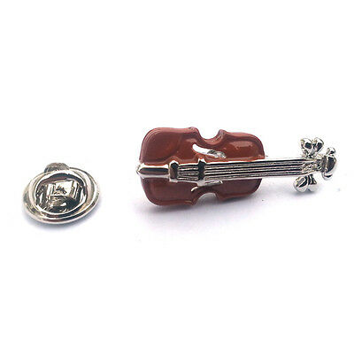 Brown Violin LAPEL PIN BADGE Violinist Fiddle Player Christmas Present GIFT BOX - Fiddle Pin
