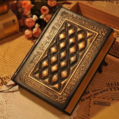 Retro Vintage Journal Diary Notebook Leather Blank Sketchbook Paper Hard Cover