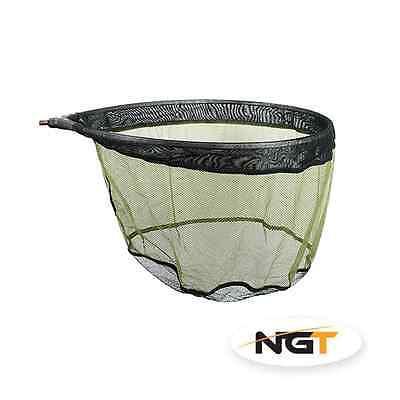 NGT Deluxe Pan Match Landing Net 50 x 40 Black & Green Soft Mesh