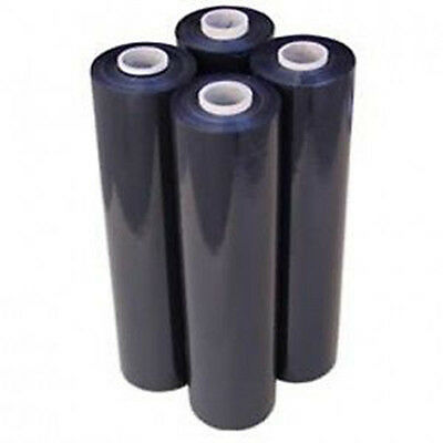 6 STRONG ROLLS BLACK PALLET STRETCH SHRINK WRAP PARCEL PACKING CLING FILM *FAST*