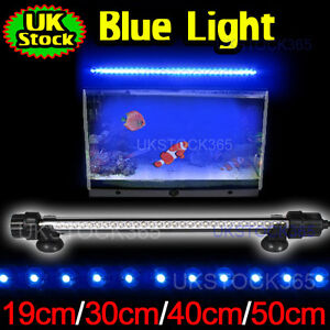 Aquarium Fish Tank Submersible LED Light Bar Lamp/White/Blue/RGB Color/Low Flash