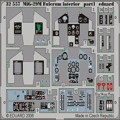 PAINTED 32557 MIG29M FULCRUM INTERIOR FOR TSM EDUARD 1//32 AIRCRAFT