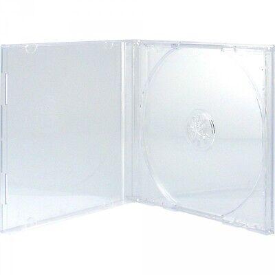 100 CD Hüllen 1er Jewelcase 10,4 mm für je 1 BD / CD / DVD transparent