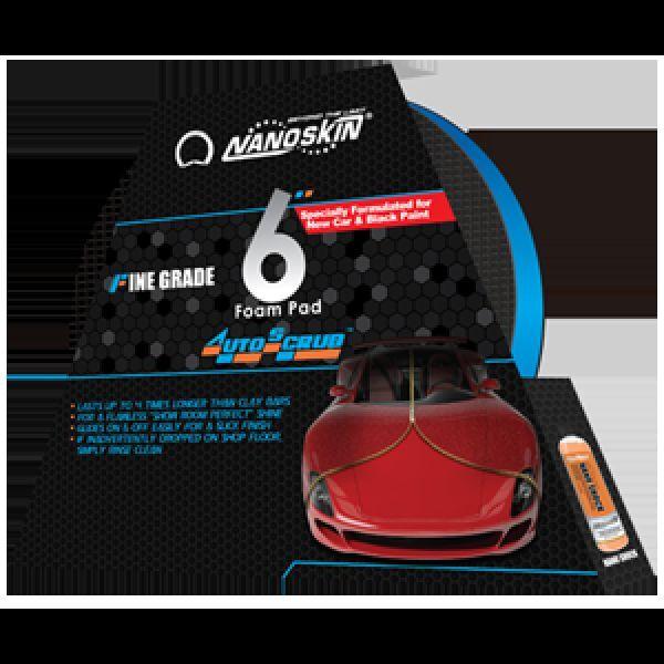 "Nanoskin Car Care AS-006 6"" Autoscrub Fine Blue Foam Clay Pad *** FAST SHIPPING"